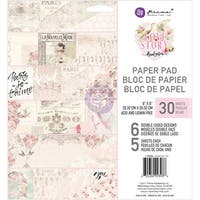 """Prima Marketing Double-Sided Paper Pad 8""""X8"""" 30/Pkg-Love Story, 6 Designs/5 Each"""