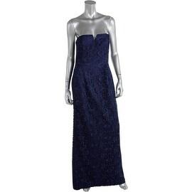 Aidan Mattox Womens Soutache Strapless Evening Dress
