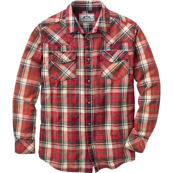 Legendary Whitetails Men's Outlaw Western Plaid Shirt