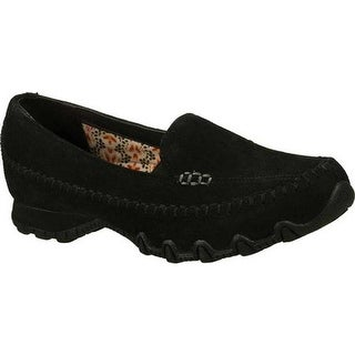 Skechers Women's Relaxed Fit Bikers Pedestrian Slip-on Black