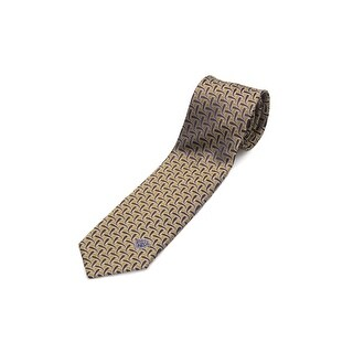 Versace Men's Men's Slim Silk Neck Tie Gold-Brown