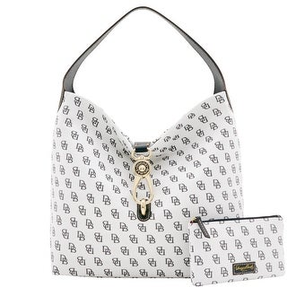 Dooney & Bourke Madison Signature Logo Lock Sac Bundle (Introduced by Dooney & Bourke at $248 in Feb 2017) - White Black