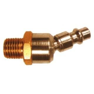 "Coilhose Pneumatics 15-06BS-DL Industrial Ball Swivel Plug, 1/4"" x 3/8"" MPT"
