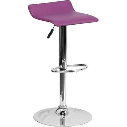 Estella Purple Vinyl Adj Bar/Counter Stool