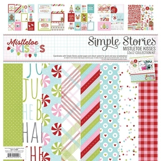 "Simple Stories Collection Kit 12""X12""-Mistletoe Kisses"