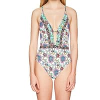 7fc8513e1b9ff Shop Nanette Lepore Womens Rosarito Floral Strappy-Side One-Piece ...