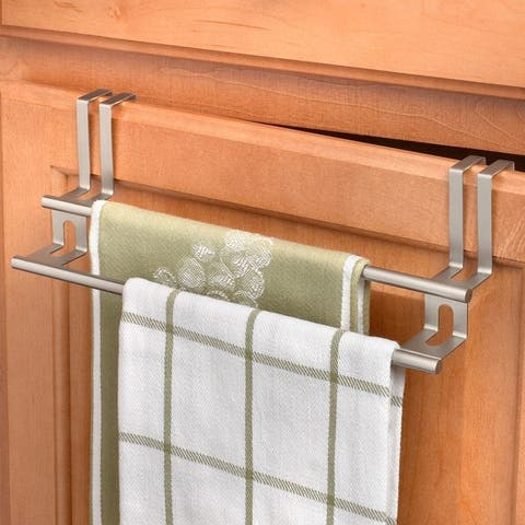 Spectrum 67171 Over The Cabinet/Drawer Double Towel Bar, Brushed Nickel, 11""