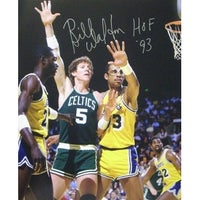 5d5ac4363 Bill Walton signed Boston Celtics 16x20 Photo HOF 93 vs Kareem AbdulJabbar