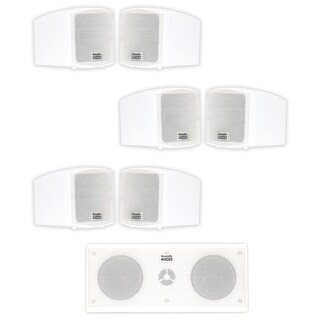 Acoustic Audio AA321W and AA35CW Indoor Speakers Home Theater 7 Speaker Set