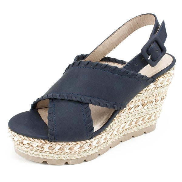 Seven Dials Womens Alessandra Leather Open Toe Casual Platform Sandals. Opens flyout.