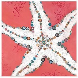 Jennifer Peck Poster Print entitled Star Fish Coral - multi-color