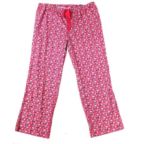 Vineyard Vines Women's Lounge Pants Pink Size XS Holiday Print Flannel