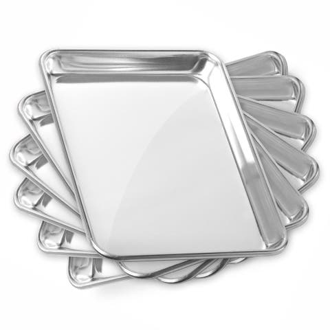 9 x 13 Inch 6-Pack, Commercial Aluminum Cookie Sheets by GRIDMANN - 9 x 13