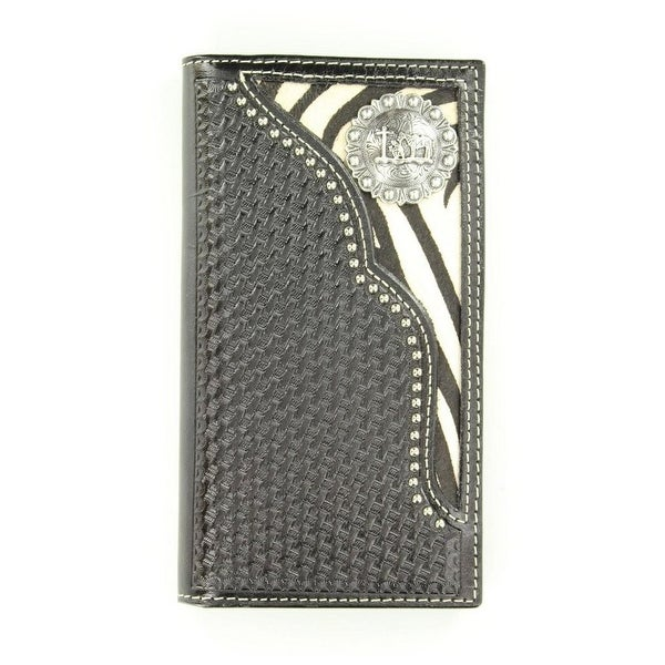 Nocona Western Wallet Mens Rodeo Zebra Cowboy Prayer Black - One size