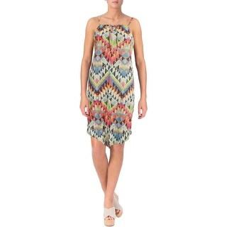 Becca by Rebecca Virtue Womens Plus Cayenne Printed Dress Swim Cover-Up - 0X