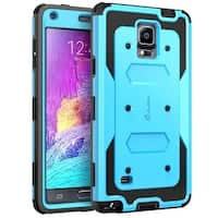 Galaxy Note 4 Case, i-Blason Armorbox Dual Layer Hybrid Full-body Protective Case For Samsung Galaxy Note 4-Blue