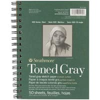 "Gray 50 Sheets - Strathmore Toned Sketch Spiral Paper Pad 5.5""X8.5"""