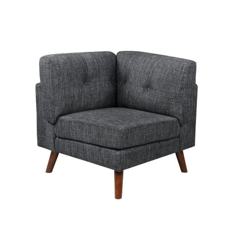Colm Dark Grey Upholstered Corner Chair