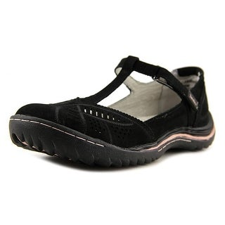 Jambu Bridget Women  Round Toe Leather Black Walking Shoe