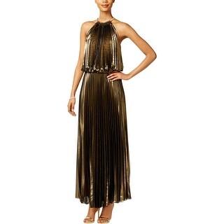 MSK Womens Evening Dress Metallic Blouson