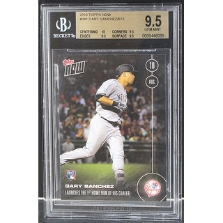 Gary Sanchez New York Yankees 2016 Topps Now Rookie Card #341 BGS 9.5 - multi