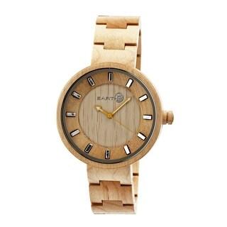 Earth Wood Root Unisex Quartz Watch, Wood Band, Luminous Hands