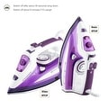 ZZ ES322-P 1500-Watt Steam Iron with Stainless Steel Soleplate, Purple - Thumbnail 1