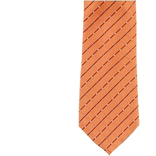 Link to Michael Kors Mens Geometric Self-tied Necktie, orange, One Size - One Size Similar Items in Ties