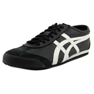 Onitsuka Tiger by Asics Serrano Women Round Toe Leather Black Sneakers