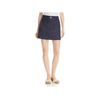 Tory Burch Womens Elise A-Line Skirt Chambray Mini