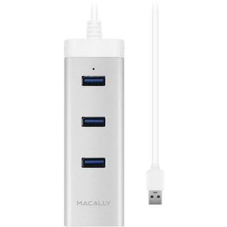 Macally U3HUBGBA Macally 3 Port USB 3.0 Hub with Gigabit Ethernet Adapter - USB - External - 3 USB Port(s) - 1 Network (RJ-45)