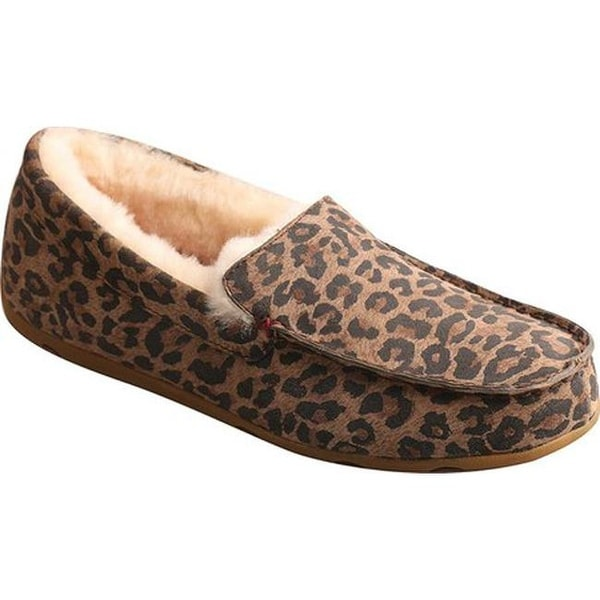 fa69748188a7 Twisted X Boots Women  x27 s WSR0002 Moccasin Slipper Leopard Leather