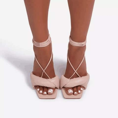 Women's Stiletto Heels With A Back Lace-Up Summer Fashion Sandals