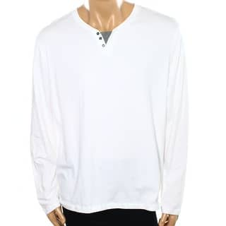 Alfani NEW Bright White Mens Size XL Long Sleeve Henley Neck Shirt|https://ak1.ostkcdn.com/images/products/is/images/direct/e24d9122eafaf3fded552919b002b2d619d55364/Alfani-NEW-Bright-White-Mens-Size-XL-Long-Sleeve-Henley-Neck-Shirt.jpg?impolicy=medium