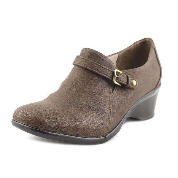 Life Stride Erica Women W Square Toe Synthetic Brown Bootie