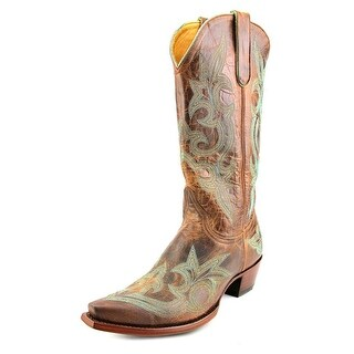 """Old Gringo Diego 13"""" Women Square Toe Leather Brown Western Boot"""