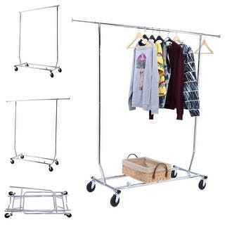 Costway Heavy Duty Commercial Grade Clothing Garment Rolling Collapsible Rack Chrome|https://ak1.ostkcdn.com/images/products/is/images/direct/e24eea3469d9fdd84e77d58f9c8b5029260dfee1/Costway-Heavy-Duty-Commercial-Grade-Clothing-Garment-Rolling-Collapsible-Rack-Chrome.jpg?impolicy=medium