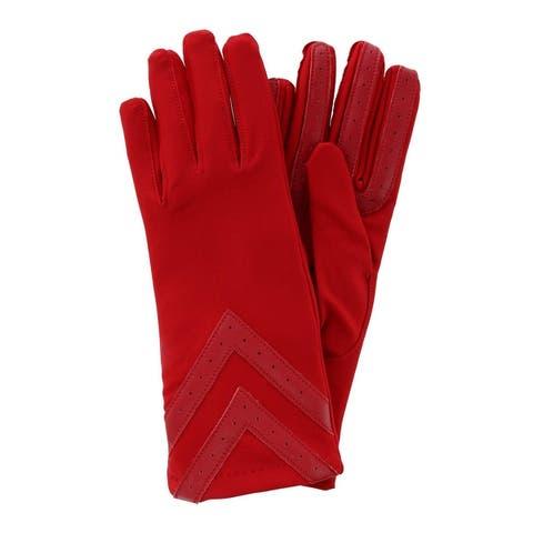 Isotoner Women's Touchscreen Chevron Winter Gloves with Fleece Lining