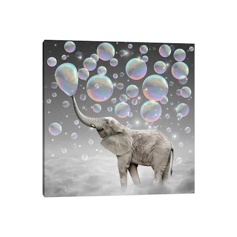 "iCanvas ""Dream Makers - Elephant Bubbles"" by Soaring Anchor Designs Canvas Print"