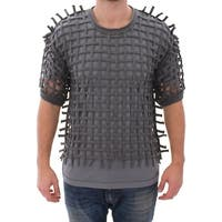Dolce & Gabbana Gray Runway Catwalk Nets Knitted Sweater