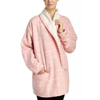 Hue Sleepwear Women's Marled Illusion Cozy Robe - Lotus Pink