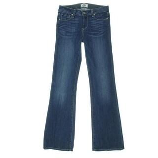 Paige Womens Skyline Low-Rise Medium Wash Bootcut Jeans - 28