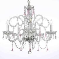 Swarovski Elements Crystal Trimmed Chandelier Lighting Pink Crystal Chandelier Lighting