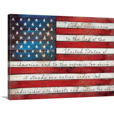 """Pledge of Allegiance"" Canvas Wall Art"