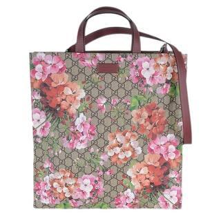 Gucci Women S 450950 Gg Supreme Blooms Fl Crossbody Purse Tote Beige Brown