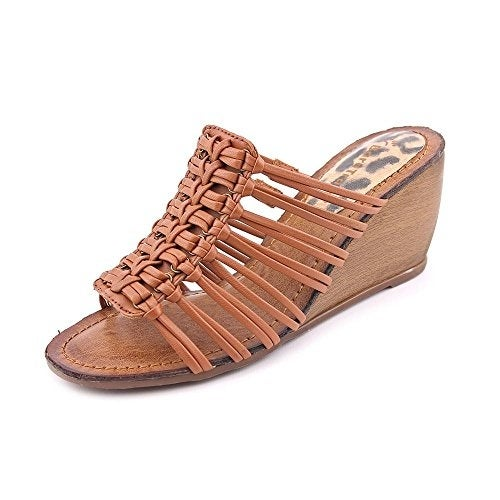 Bare Traps Womens Ilisha Open Toe Casual Slide Sandals