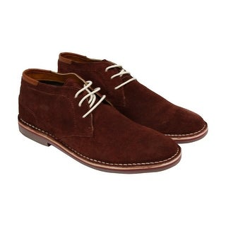 Kenneth Cole Desert Sun Mens Burgundy Suede Casual Dress Lace Up Oxfords Shoes