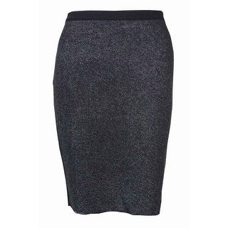RACHEL Rachel Roy Women's Knitted Metallic Pencil Skirt - S