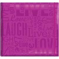 "Live; Love & Laugh - Bright Purple - Gloss Post Bound Scrapbook 12""X12"""