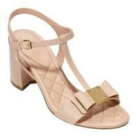 Cole Haan Women's Genessa II T-Strap Sandal Nude Patent